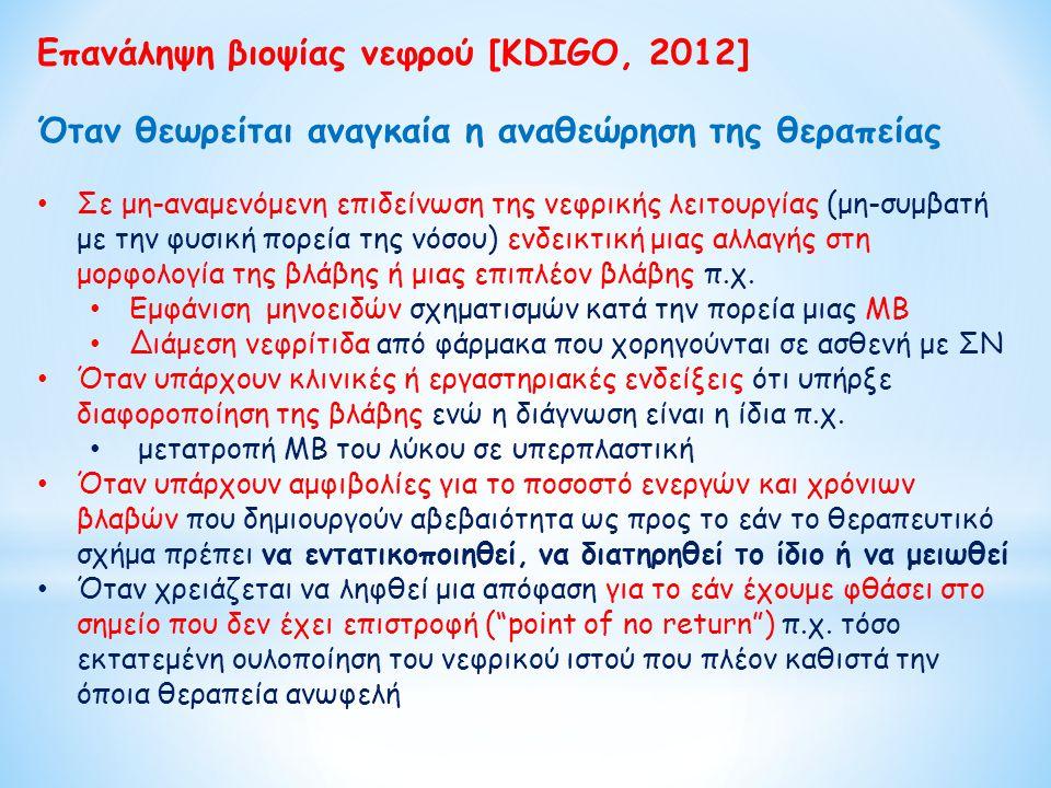 Επανάληψη βιοψίας νεφρού [KDIGO, 2012]